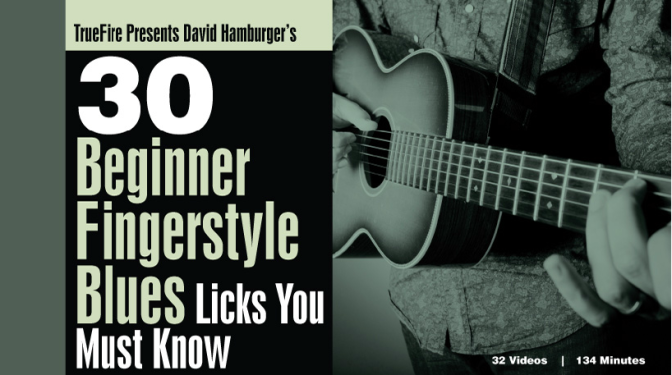 #Let's Review | 30 Beginner Fingerstyle Blues Licks You Must by David Hamburger and Truefire.com